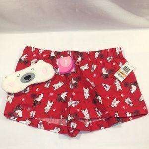 New Sleep Shorts Boxers and Sleeping Eye Mask Set